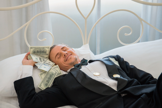 寝ながら不労所得のイメージ