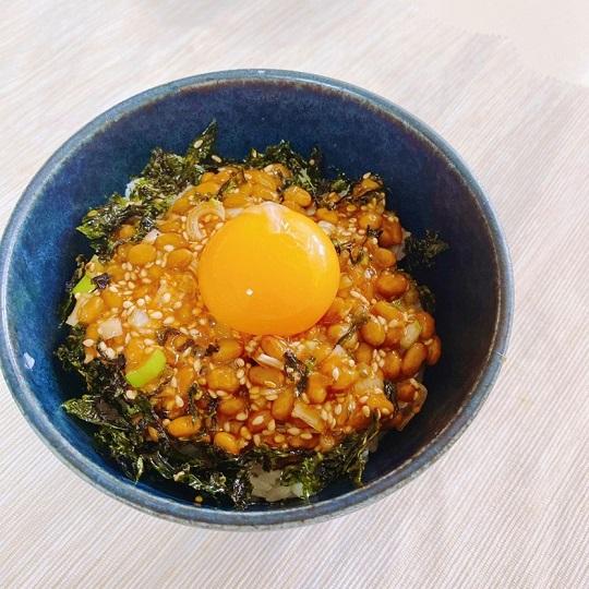 納豆の韓国風佃煮丼