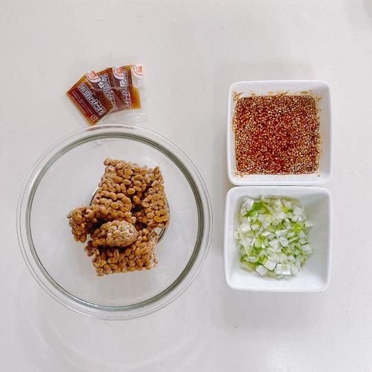 納豆の韓国風佃煮丼の材料