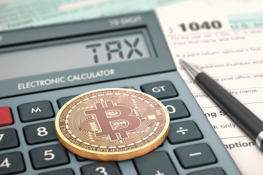 ビットコインの税金のイメージ