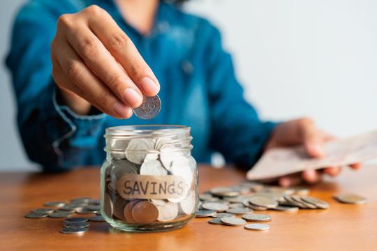 コツコツ貯蓄のイメージ