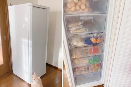 引き出し式の冷凍庫