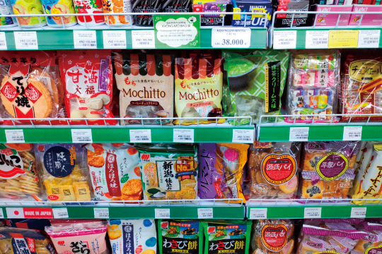 日本のスナック菓子
